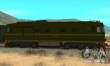 Custom Graffiti Train 2 para GTA San Andreas esquerda vista