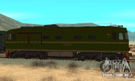 Custom Graffiti Train 2 para GTA San Andreas esquerda vista