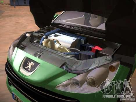 Peugeot RCZ 2010 para GTA San Andreas vista interior
