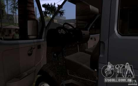 Gazela 33023 para GTA San Andreas vista interior