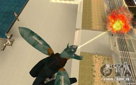 Metal gear ray para GTA San Andreas segunda tela