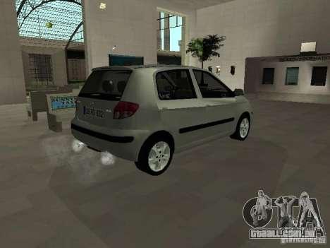 Hyundai Getz para GTA San Andreas traseira esquerda vista