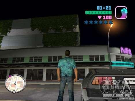 Delorean DMC-12 para GTA Vice City vista direita
