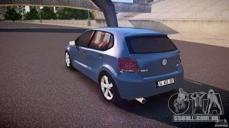 Volkswagen Polo 2011 para GTA 4 traseira esquerda vista