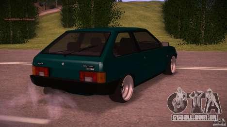 VAZ 2108 baixo clássico para GTA San Andreas traseira esquerda vista