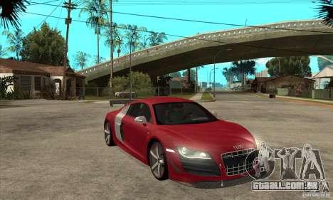 Audi R8 V10 v2 para GTA San Andreas vista traseira
