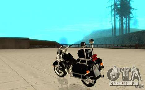 GTAIV TBOGT PoliceBike para GTA San Andreas traseira esquerda vista