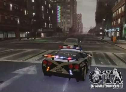 Chevrolet Corvette Z06 Police para GTA 4 vista direita