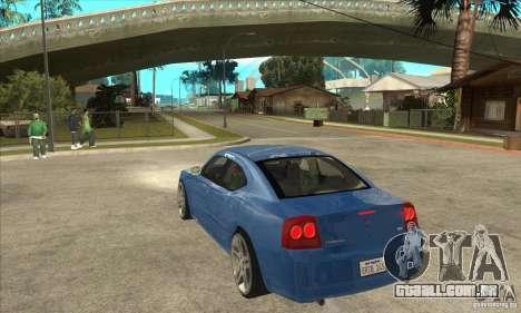 Dodge Charger R/T 2006 para GTA San Andreas traseira esquerda vista