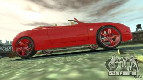 Alfa Romeo GTV Spider para GTA 4 vista superior