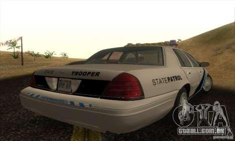Ford Crown Victoria Colorado Police para GTA San Andreas esquerda vista