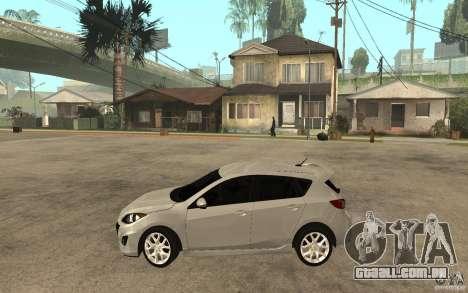 Mazda 3 Mazdaspeed 2010 para GTA San Andreas esquerda vista