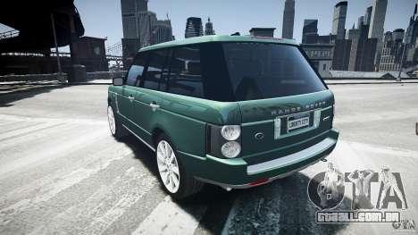 Range Rover Supercharged v1.0 para GTA 4 traseira esquerda vista