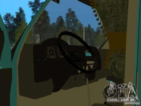Gazela 2705 para GTA San Andreas vista traseira