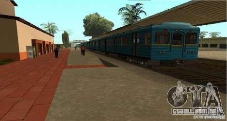 Metro tipo OURIÇO para GTA San Andreas esquerda vista