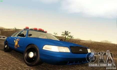 Ford Crown Victoria Michigan Police para GTA San Andreas