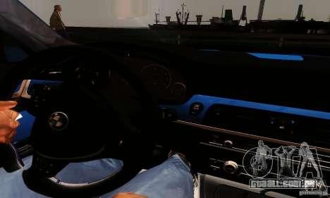 BMW M5 F10 2012 para GTA San Andreas vista direita