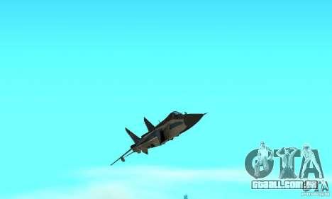 MiG-31 Foxhound para GTA San Andreas vista superior