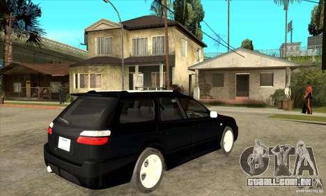 Subaru Legacy Station Wagon para GTA San Andreas vista direita