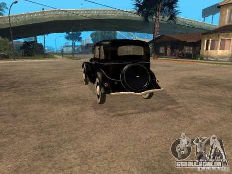 Gaz M1 para GTA San Andreas traseira esquerda vista