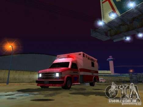 Ambulance 1987 San Andreas para GTA San Andreas vista superior