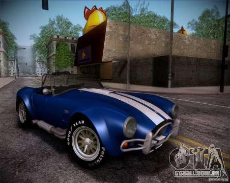 Shelby Cobra 427 Full Tunable para GTA San Andreas vista inferior