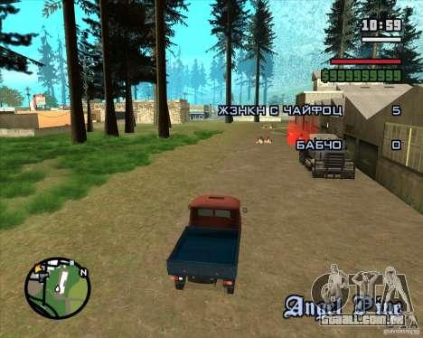 Árvores de Natal Razvozčik para GTA San Andreas terceira tela