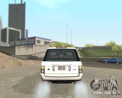 Land Rover Range Rover Supercharged 2008 para GTA San Andreas vista direita