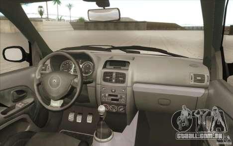 Renault Clio V6 para GTA San Andreas vista inferior