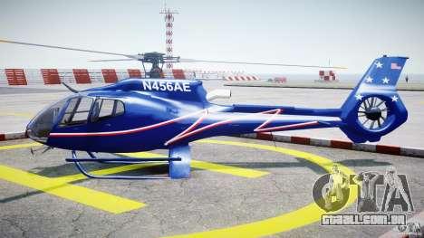 Eurocopter EC130B4 NYC HeliTours REAL para GTA 4 esquerda vista