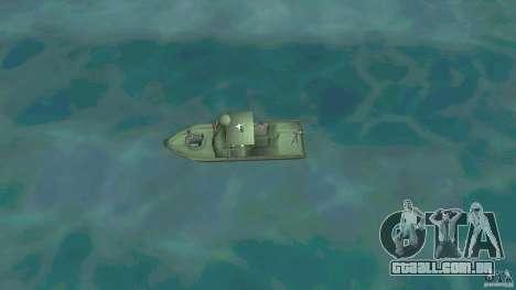 Rio do barco de patrulha Mark 2 (Player_At_Wheel para GTA Vice City vista direita