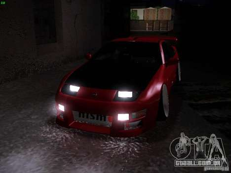 Nissan 300ZX Drift para vista lateral GTA San Andreas