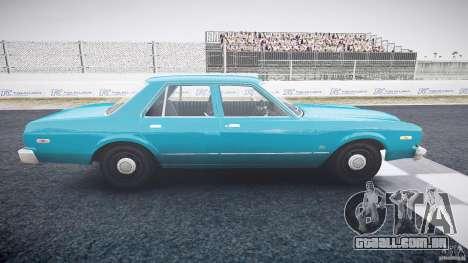 Dodge Aspen v1.1 1979 yellow rear turn signals para GTA 4 vista interior