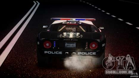 Ford GT1000 Hennessey Police 2006 [EPM][ELS] para GTA 4 motor