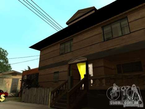 CJ em casa nova para GTA San Andreas segunda tela