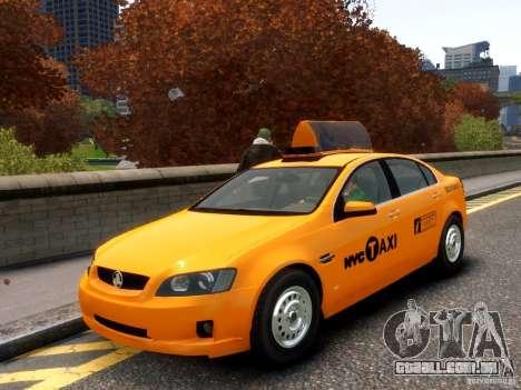 Holden NYC Taxi para GTA 4 vista superior