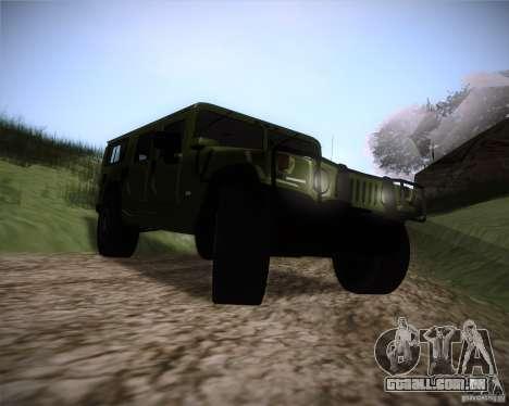 Hummer H1 Alpha para GTA San Andreas vista traseira