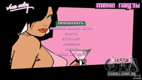 Menu para GTA Vice City segunda tela