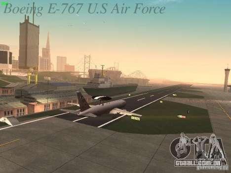 Boeing E-767 U.S Air Force para GTA San Andreas vista superior