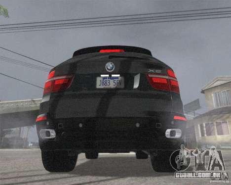 BMW X5 2009 Tune para GTA San Andreas traseira esquerda vista