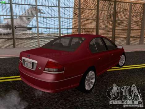 Ford Falcon Fairmont Ghia para GTA San Andreas vista traseira