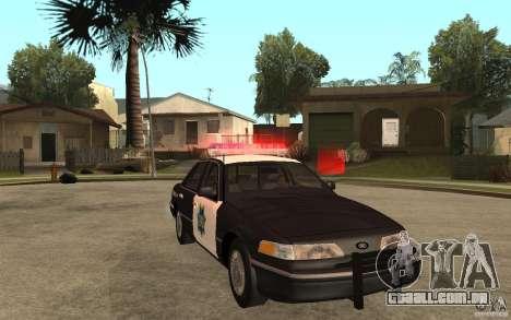 Ford Crown Victoria SFPD 1992 para GTA San Andreas vista traseira