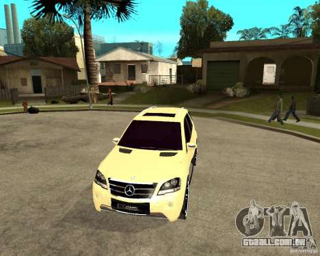 Mercedes-Benz ML 63 AMG para GTA San Andreas vista traseira
