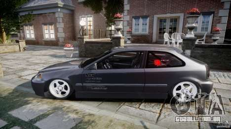 Honda Civic EK9 Tuning para GTA 4 vista interior