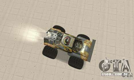 Monster Truck Maximum Destruction para GTA San Andreas traseira esquerda vista