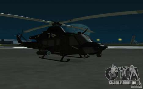 UH-1Y Venom para GTA San Andreas traseira esquerda vista