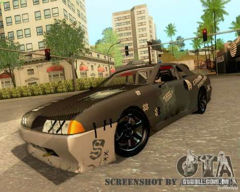 Elegy Drift Korch para GTA San Andreas vista inferior