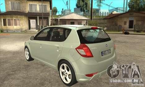 Kia Ceed 2011 para GTA San Andreas traseira esquerda vista