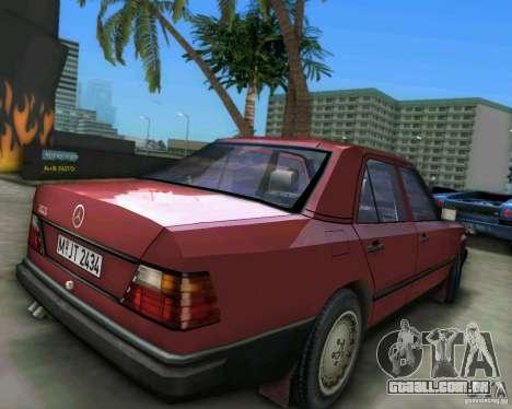 Mercedes-Benz E190 para GTA Vice City vista traseira esquerda