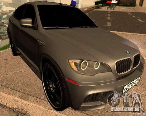 BMW X6 M E71 para GTA San Andreas vista traseira